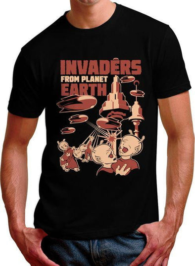 Invaders From Planet Earth Mens T-Shirt