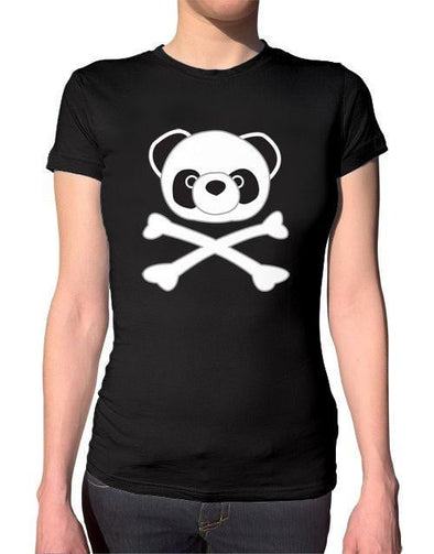 Pirate Panda Ladies T-Shirt