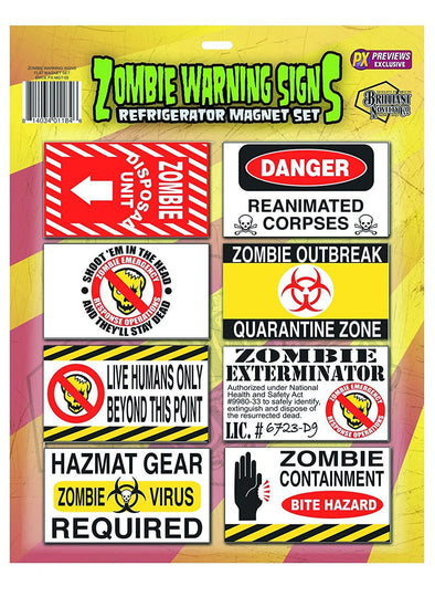 Spherewerx Zombie Danger Signs Magnet Set