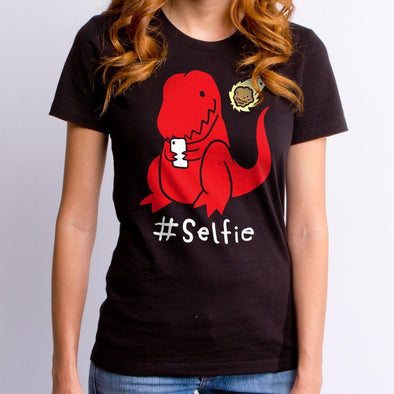 Dino #Selfie Ladies T-Shirt