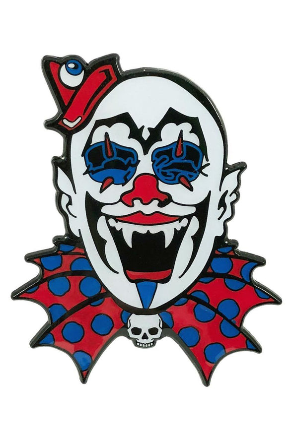 Glow-in-the-Dark Kreepy Clown Enamel Pin