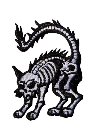 Skeleton Cat Mini Patch