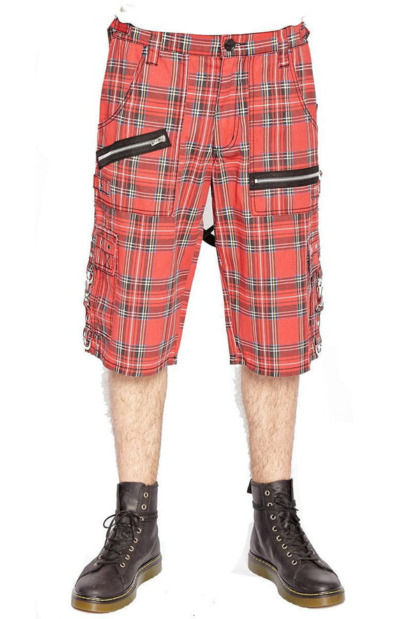 Tripp Red Plaid Punk Shorts - Vampirefreaks Store