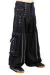 Tripp Back Up Skull Pants [Black / Purple] - Vampirefreaks Store