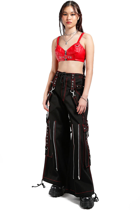 Back Up Skull Pants [Black w/ Red Skulls]