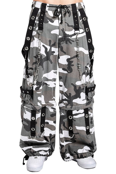 Tripp Gray Camo Chain Zip Off Pants