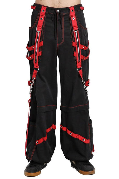 Tripp Chain And Zipper Pants (Black/Red)