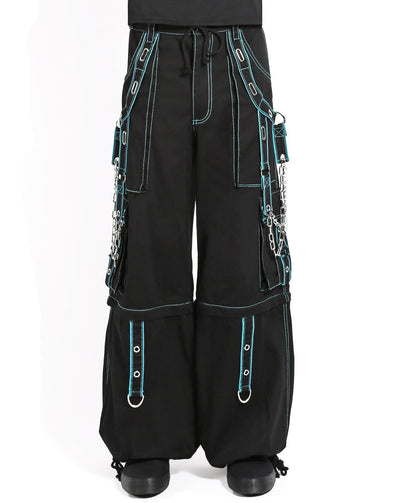 Tripp Chain and Grommet Pants - Teal