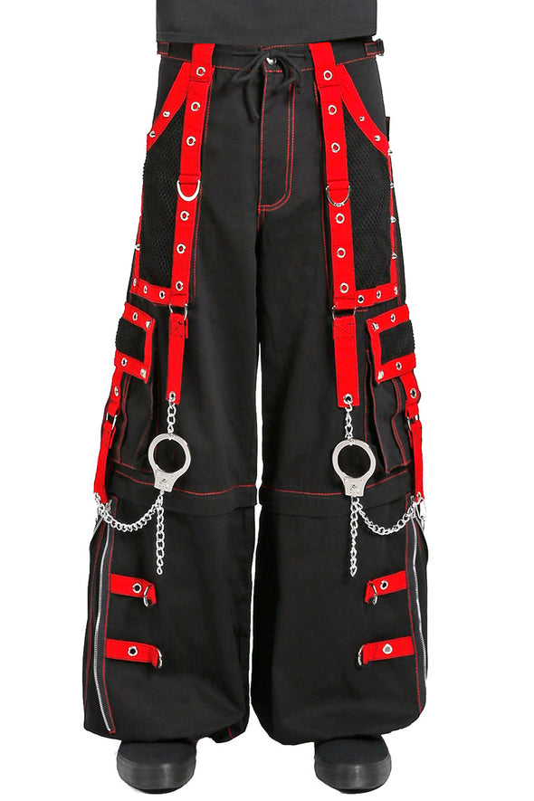 Tripp Mega Eye Pants Black/Red - Vampirefreaks Store