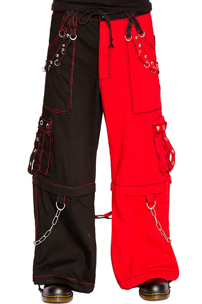 Tripp NYC Split Leg Baggy Pants (Black/Red) - Vampirefreaks Store