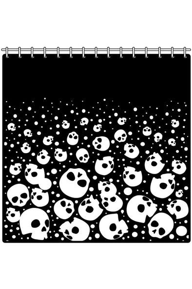 Bubble Skull Heads Shower Curtain