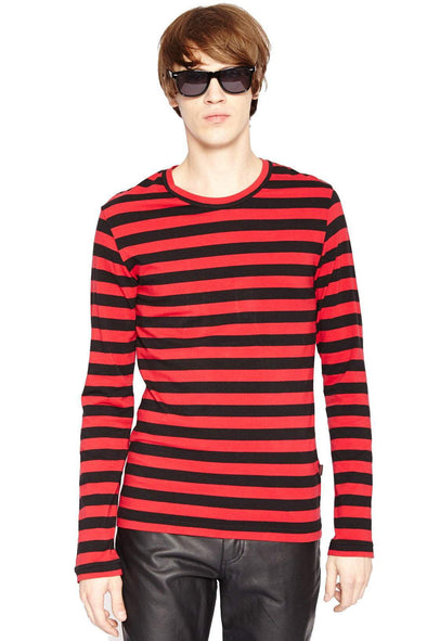 Tripp Striped Long Sleeve Shirt [Red]