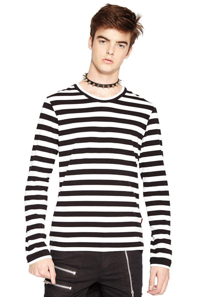 Tripp Striped Longsleeve Shirt (White)
