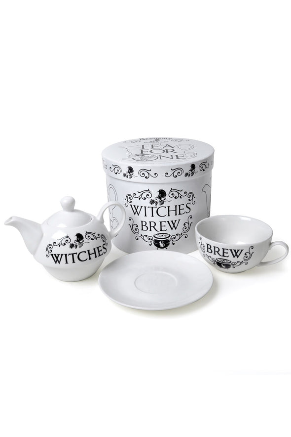 witch goth teacup teapot