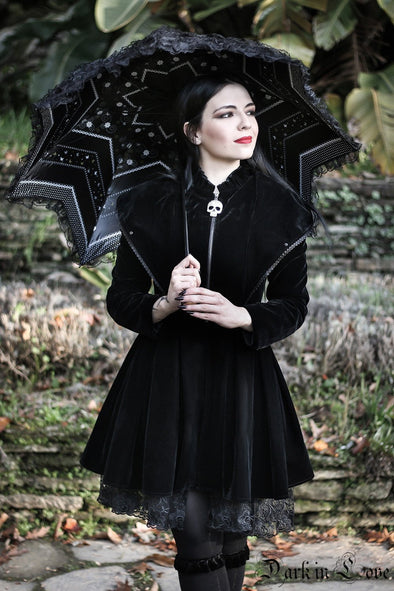 Dark In Love Gothic Lolita Jagged Umbrella
