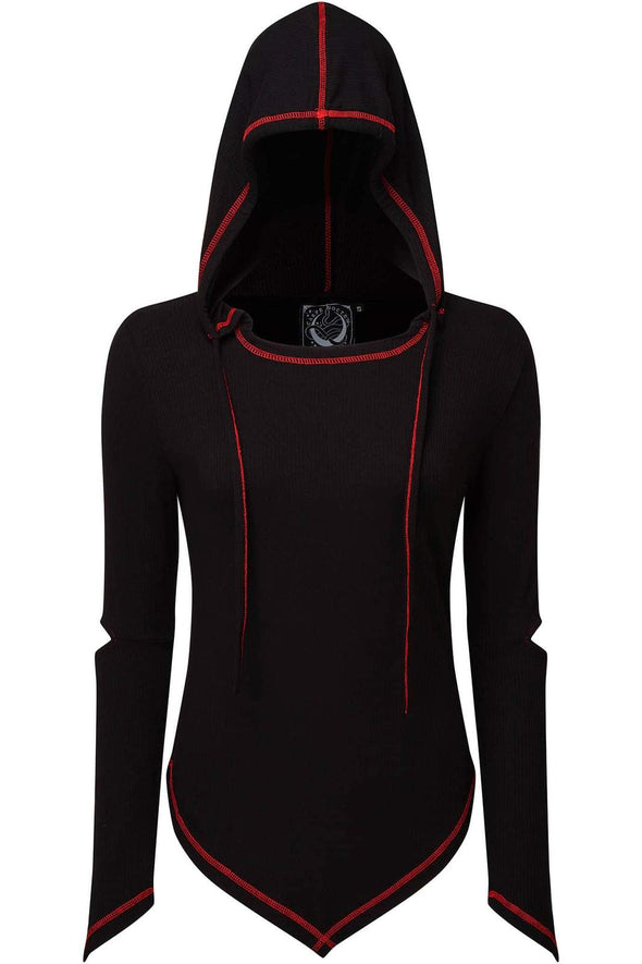 womens burning man hooded top