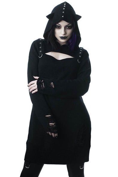 Killstar Bad Kitty Bondage Knit Dress