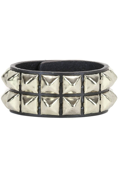 Seeing Double Pyramid Stud Bracelet [2 Rows]