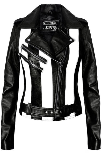 Killstar Beetlejuice Leather Jacket [vegan] - Vampirefreaks Store