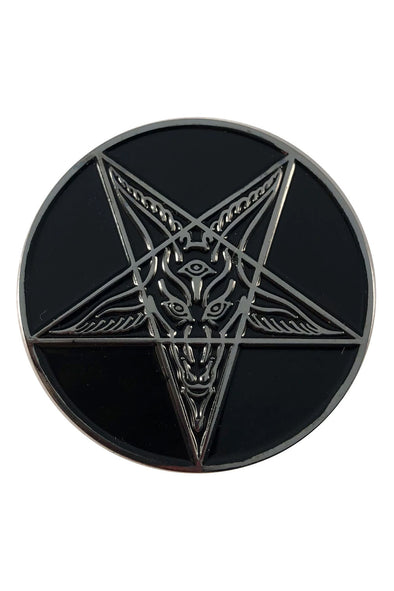 Goathead Baphomet Enamel Pin Badge [Black]