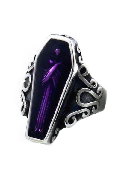 Purple Coffin Ring