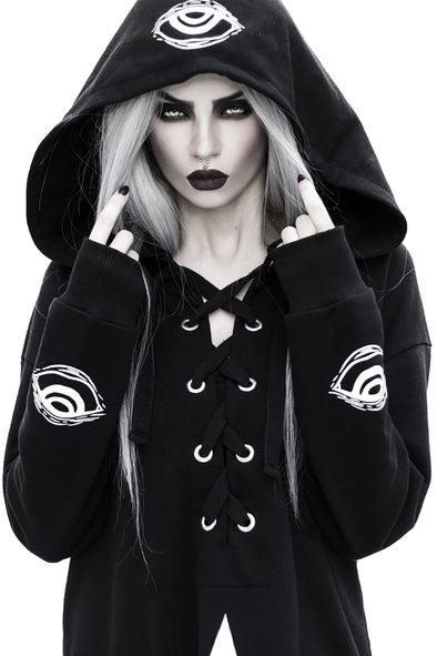 occult pagan hoodie top