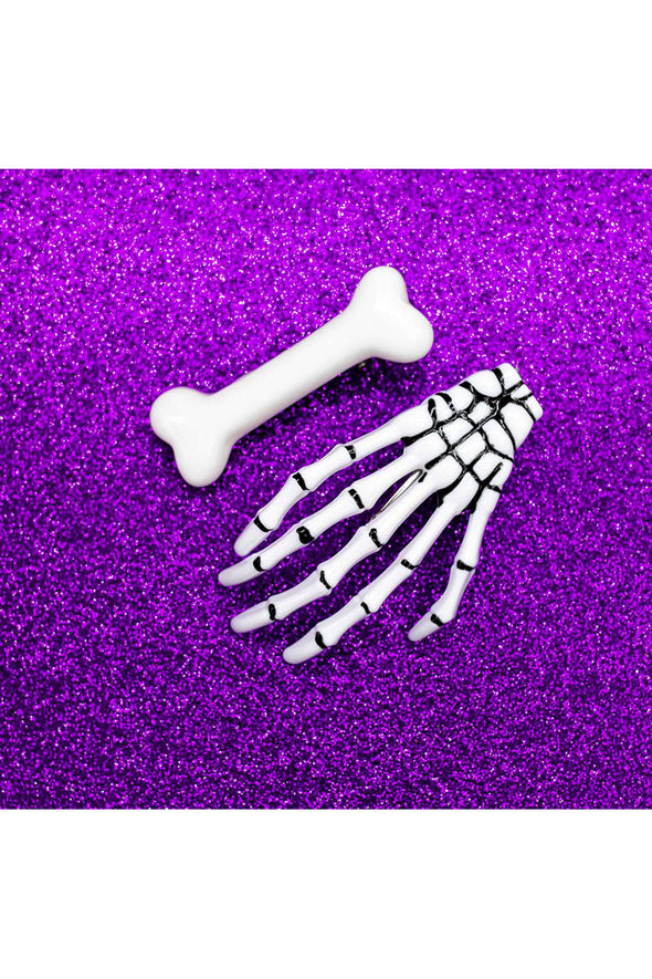 Femur Bone Hair Clips [Pair of 2]
