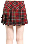 Tripp NYC Pleated Skirt [Red Plaid]