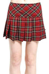 Punk plaid mini skirt