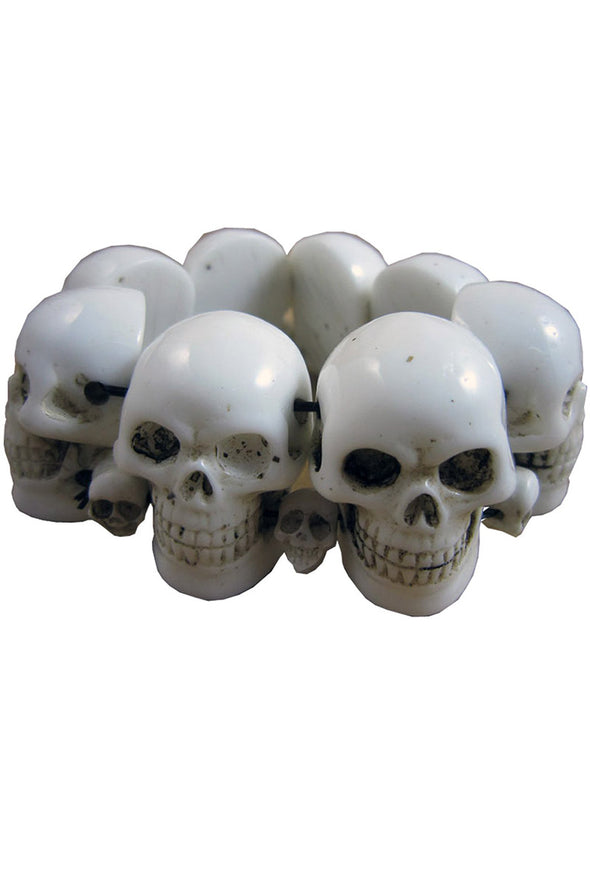 Kreepsville Skull Collection Bracelet [White] - Vampirefreaks Store