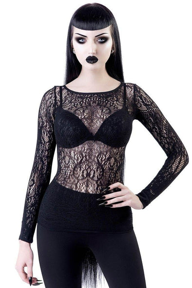 Killstar Capella Lace Top - Vampirefreaks Store