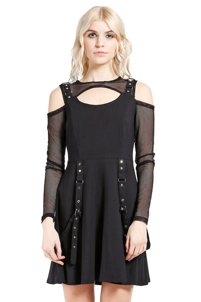 Tripp NYC Fishnet Strap Dress - Vampirefreaks Store