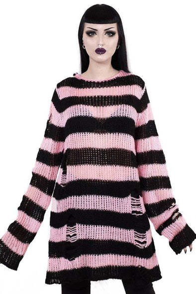 Killstar Courtney Distress Knit Sweater