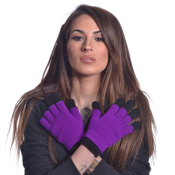 Double Gloves (Purple) - Vampirefreaks Store