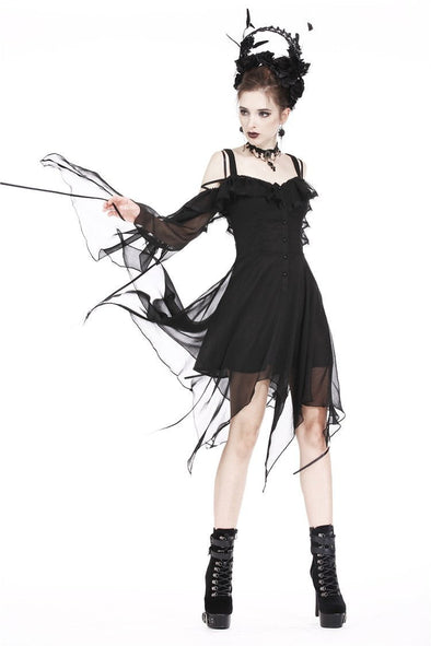 Dark In Love Goth Flow Dress - Vampirefreaks Store