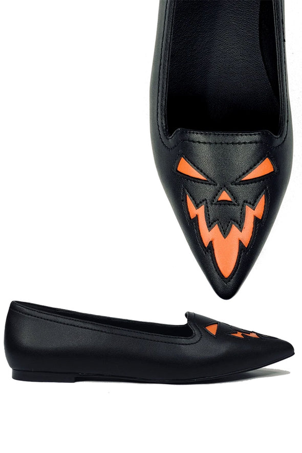 Dagger Jack Flats [Black/Orange]