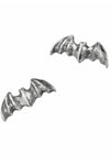 Goth bat stud earrings