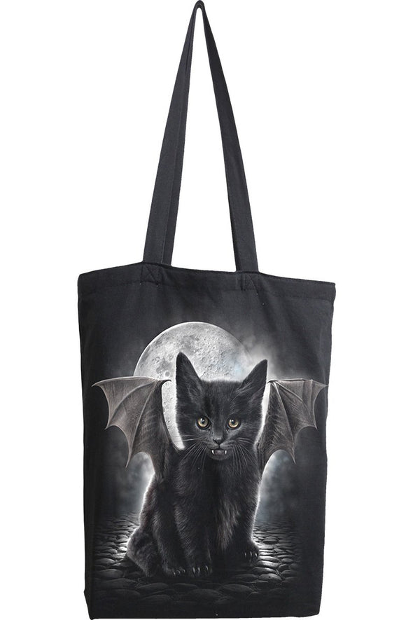 Vampire Kitty - Premium Long-Handle Tote Bag - Vampirefreaks Store