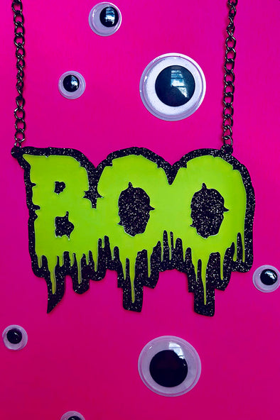 Boo Babe Necklace [Slime Green]