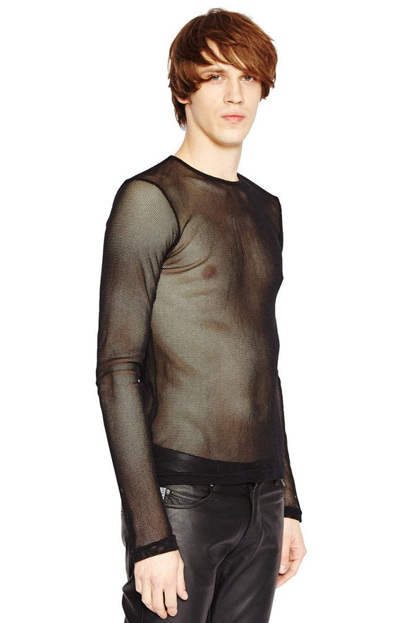 Tripp Fishnet Shirt - Black