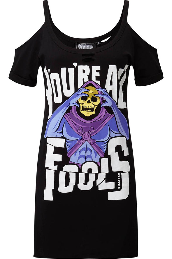 Killstar Skeletor Fools Distress Top - Vampirefreaks Store