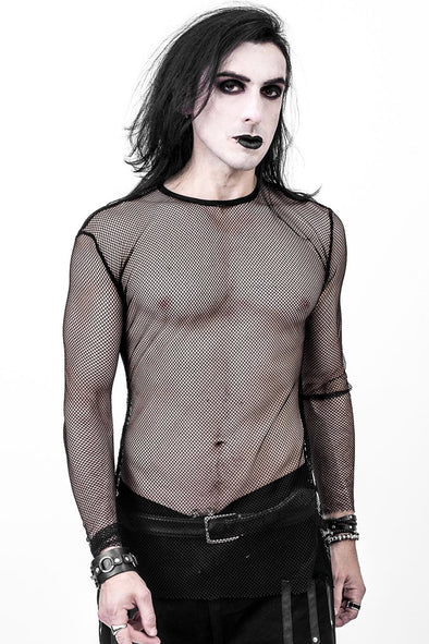 Necessary Evil Gothic Kane Mens Fishnet Top