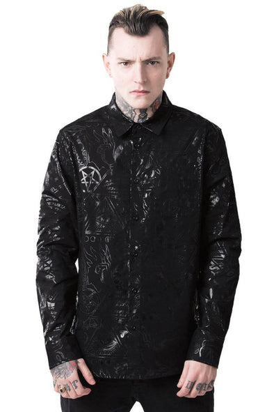 Killstar Grave Boy Button Up Shirt