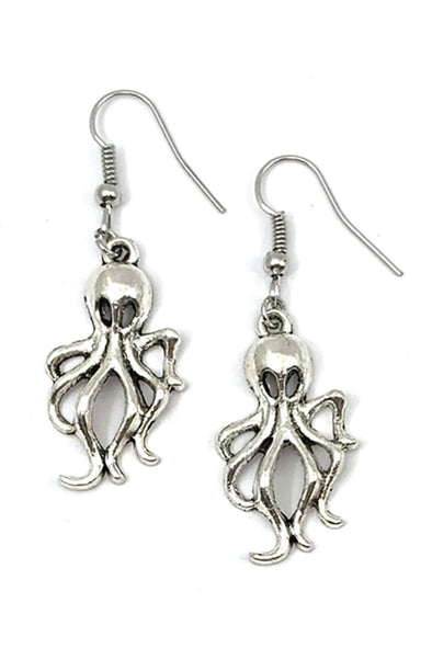 Catalyst Metal Octopus Squid Earrings - Vampirefreaks Store