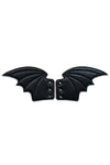 goth shoe wing accessories