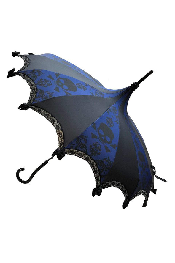 Skull Damask Umbrella [Blue]