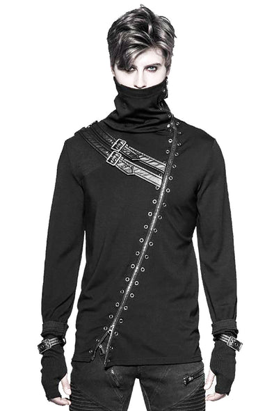 Punk Rave Zipper Bondage Turtleneck - Vampirefreaks Store