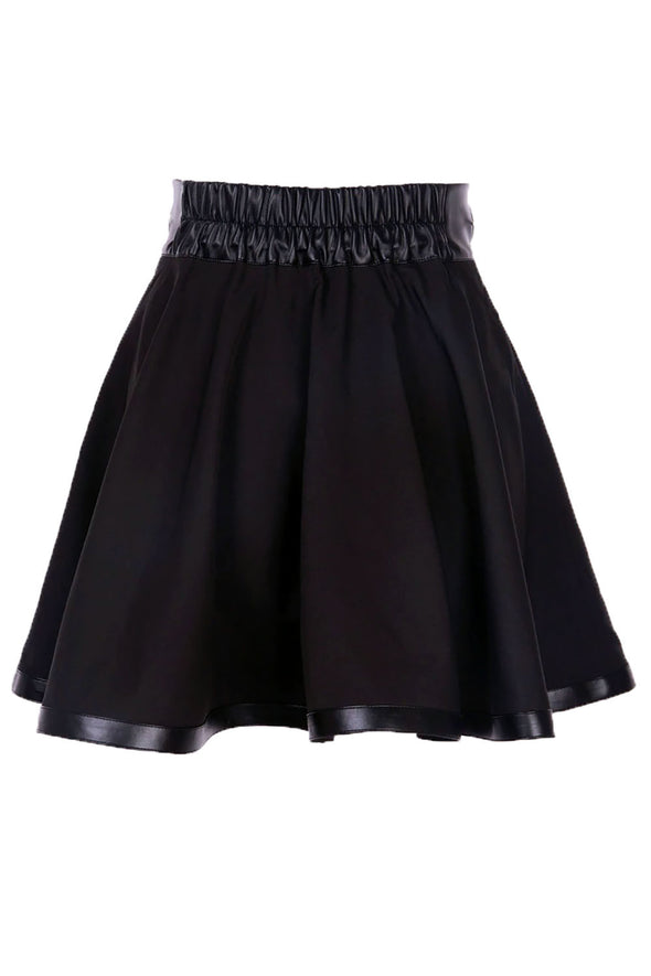 womens goth o ring skater skirt