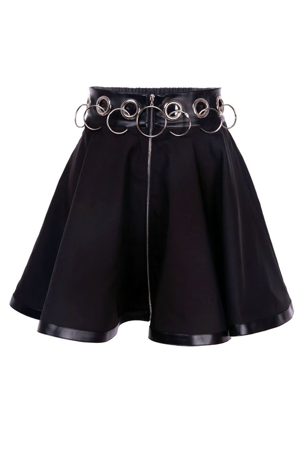 womens high waisted o ring skirt