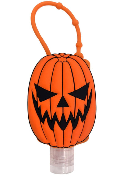 Trick or Treat Pumpkin Hand Sanitizer Holder